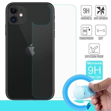 Microsonic Apple iPhone 11 (6.1'') Arka Nano Cam Ekran Koruyucu Renksiz